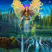 Angel Tarot Card Archangel Jophiel  Art Print