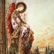 Angel Traveller Art Print by Gustave Moreau