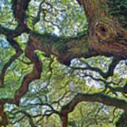 Angel Tree Abstract Art Print