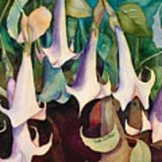 Angel Trumpet Concert Art Print