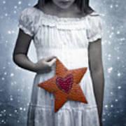Angel With A Star Print by Joana Kruse