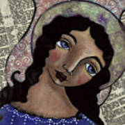 Angel With Purple Eyes Art Print