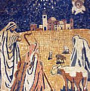 Angel With Shepherds Art Print