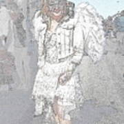 Angelic Goth Art Print