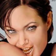 Angelina Jolie - Cold Seduction  Art Print