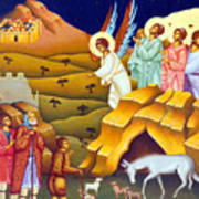 Angels And Shepherds Art Print