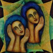 Angels In Blue. Art Print