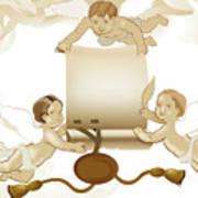Angels Invitation Art Print