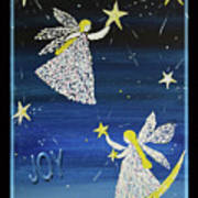 Angels, Joy, Lucky Stars Art Print