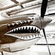 Anger Management Bw Palm Springs Air Museum Art Print