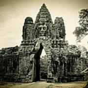 Angkor Thom Southern Gate Art Print