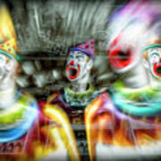 Angry Clowns Art Print