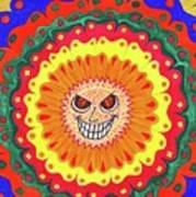 Angry Flower Art Print