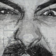 Angry Man Art Print