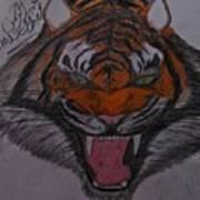 Angry Tiger Art Print