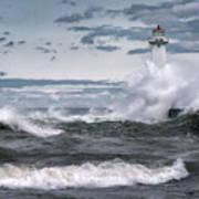 Angry Waters Of Lake Ontario Art Print