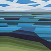 Angular Lake Art Print