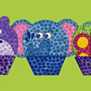 Animal Cupcakes 2 Art Print