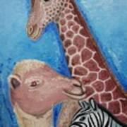 Animals Ladies Art Print