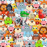 Animals Zoo Art Print