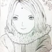 Anime Drawing  Art Print
