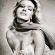 Anita Ekberg, Hollywood Legend By John Springfield Art Print