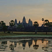Angkor Wat Sunrise Pond Art Print