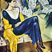 Anna Akhmatova (1889-1967) Art Print