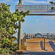 Anna Maria City Pier Landmark Art Print