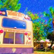 Anna Maria Elementary School Bus C131270 Art Print