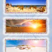 Anna Maria Island Beach Collage Art Print