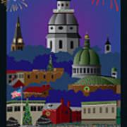Annapolis Holiday Art Print