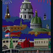Annapolis Holiday With Title Art Print