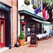 Annapolis Md - Restaurant On State Circle Art Print