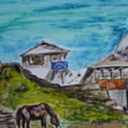 Annapurna Trekking Base Camp Art Print