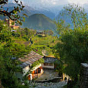 Annapurna Village Art Print