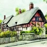 Anne Hathaway Cottage England Art Print