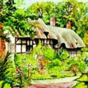 Anne Hathaways Cottage  Art Print