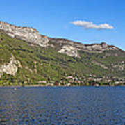 Annecy Lake Panorama Art Print