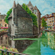 Annecy-the Venice Of France Art Print