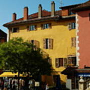 Annecy Town Square Art Print