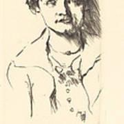 Anneliese Halbe (bildnis Einer Jungen Dame (anneliese Halbe)) Art Print