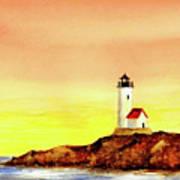 Annisquam Harbor Lighthouse - Summer Scene Art Print