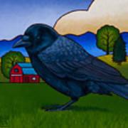 Anns Crow Art Print