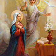 Annunciation To The Blessed Virgin Mary Art Print