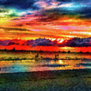 Another Day At The Beach Art Print