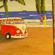Another Groovy Beach Weekend Art Print