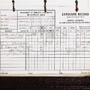 Ansel Adams Photography Exposure Record Log Art Print By