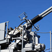 Anti Aircraft Turret Defense Guns On A Navy Ship Art Print
