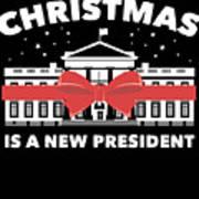 Anti Donald Trump Christmas Edition Vote For Dems Dark Art Print
